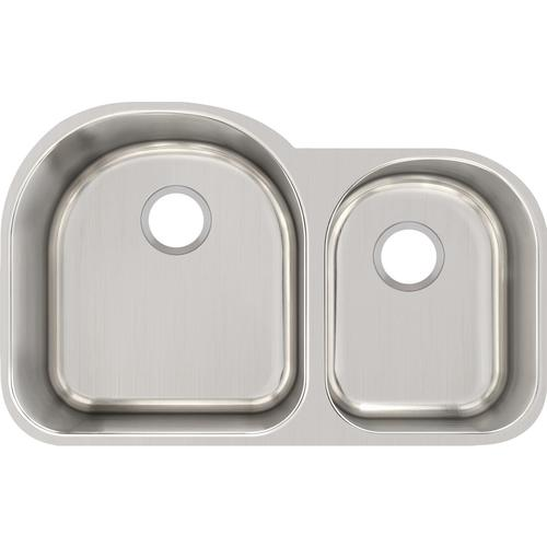 "Elkay Lustertone® Classic Undermount 31-1/4"" Stainless Steel Double Bowl Kitchen"