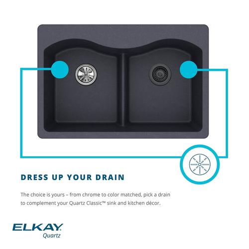 Elkay Clic Drop In 25 Quartz Single Bowl Kitchen Sink