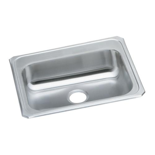 elkay celebrity drop in 25 stainless steel single bowl kitchen rh menards com