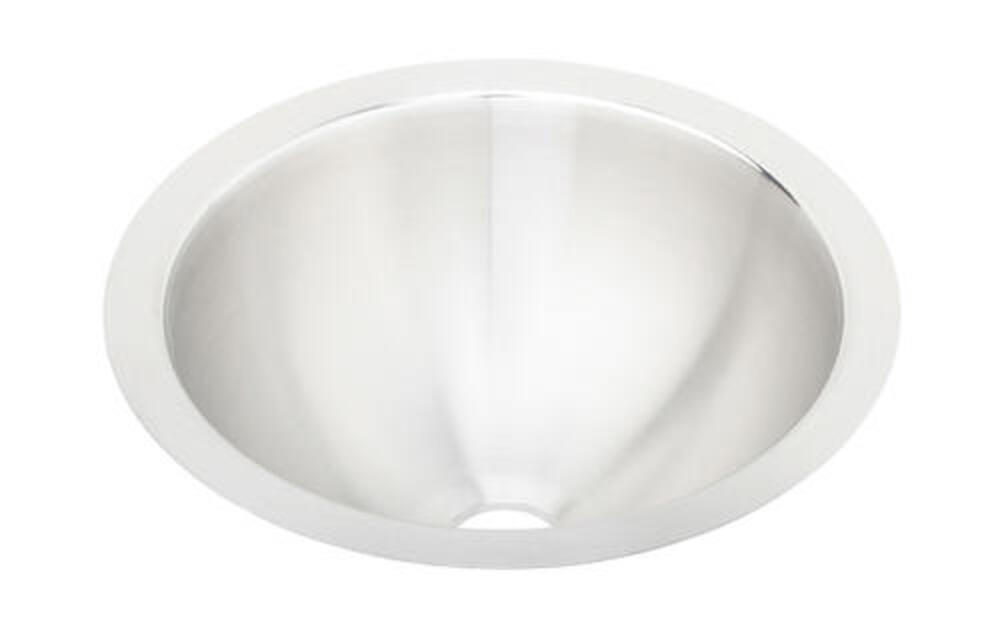 Elkay Asana 14 3 8 W Stainless Steel Round Undermount Bathroom Sink At Menards