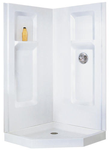 Mustee Durawall Corner Shower 38 In. X 38 In. X 72 In. Three Piece  Direct To Stud Shower Wall At Menards®