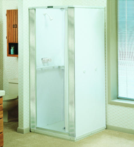 Mustee, Durastall 32 in. x 32 in. x 76 in. Standard Shower Stall at ...