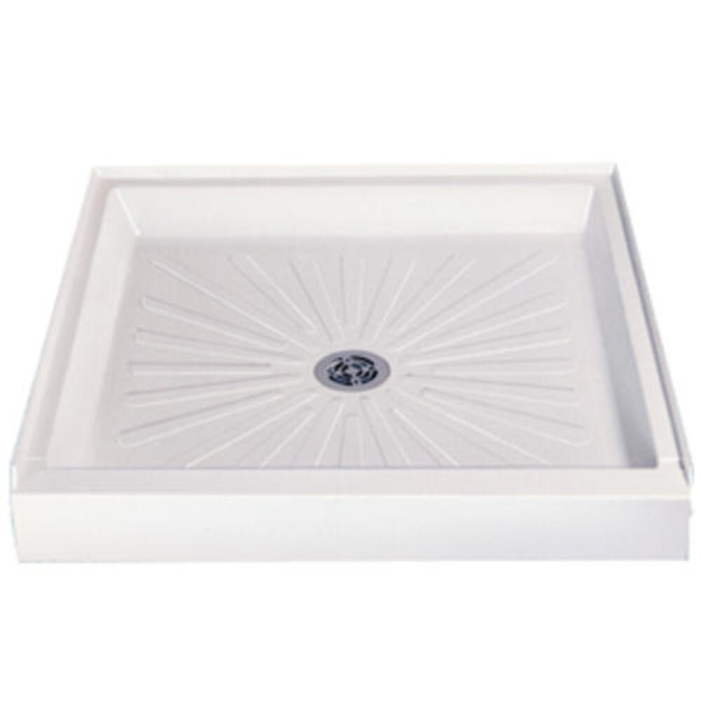 White Mustee 3636M Durabase Fiberglass 36-Inch x 36-Inch Shower Base