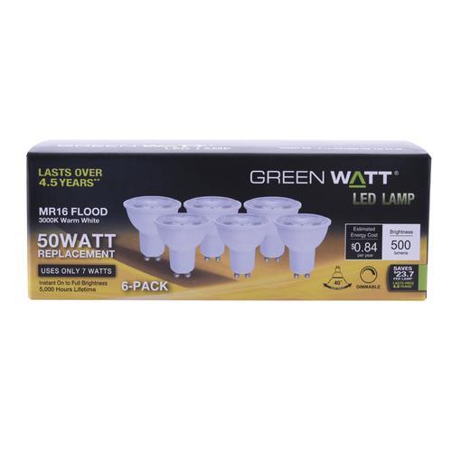 Flood Light Gu10 Watt® Led Mr16 Bulbs Equivalent 50w Green Dimmable S54LAj3Rcq