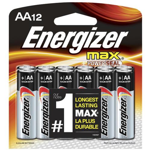 Energizer Max Aa Batteries 12 Pack At Menards