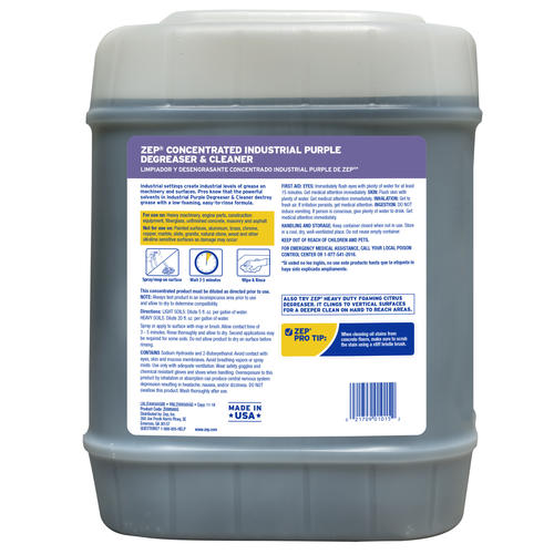 Zep 174 Industrial Purple Cleaner Amp Degreaser Concentrate 5