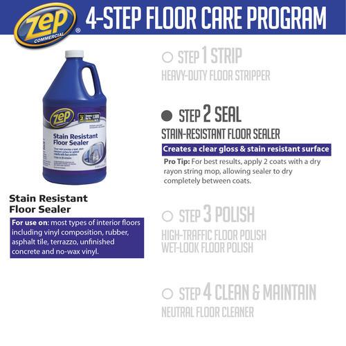 Zep Stain Resistant Floor Sealer 128 Oz At Menards