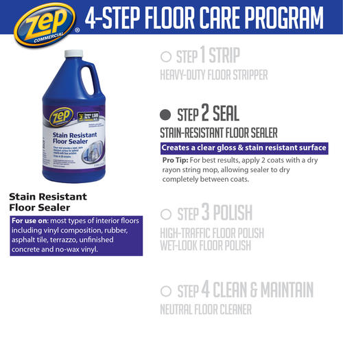Zep® Commercial Stain Resistant Floor Sealer   128 Oz. At Menards®