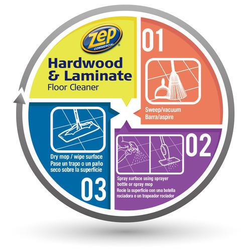 Zep® Commercial Hardwood U0026 Laminate Floor Cleaner   128 Oz. At Menards®