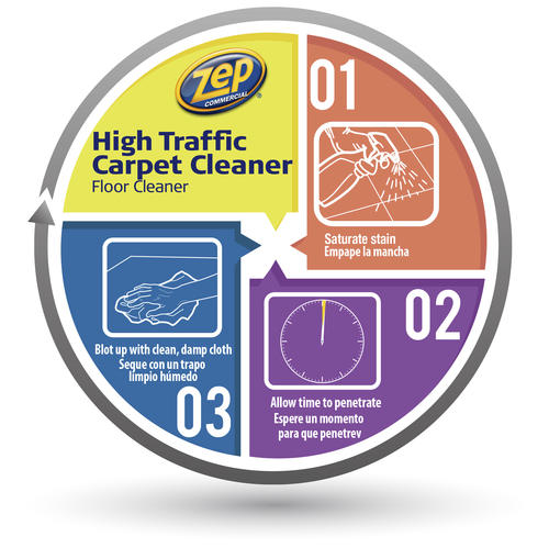 Zep High Traffic Carpet Cleaner 128 Oz