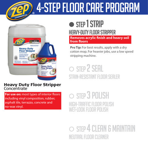 Zep® Commercial Concentrated Heavy Duty Floor Stripper   5 Gallon At  Menards®