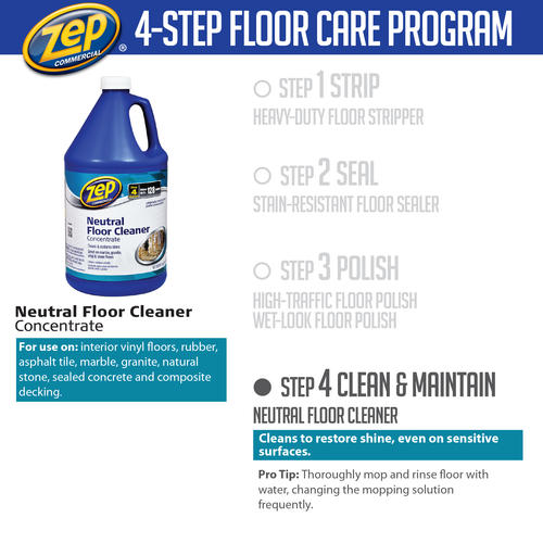 Wonderful Zep® Commercial Concentrated Neutral Floor Cleaner   128 Oz. At Menards®