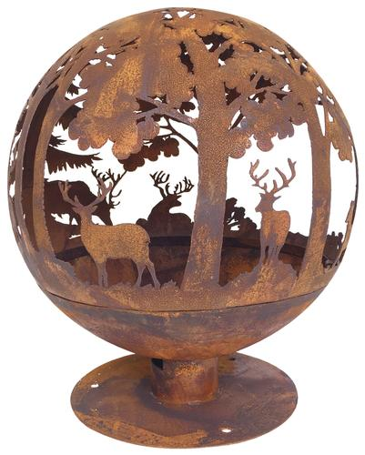 Backyard Creations 40 Wildlife Steel Fire Pit Globe At Menards