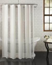 Excell Home Fashions Waldorf Fabric Shower Curtain