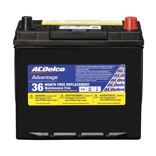 Ac Delco Battery >> Acdelco Advantage 51r Automotive Battery At Menards