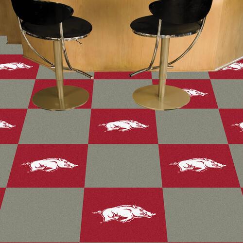 FANMATS NCAA Ohio State University Buckeyes Nylon Face Team Carpet Tiles