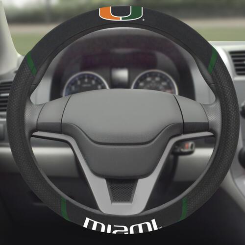 NCAA Steering Wheel Cover NCAA Miami Hurricanes