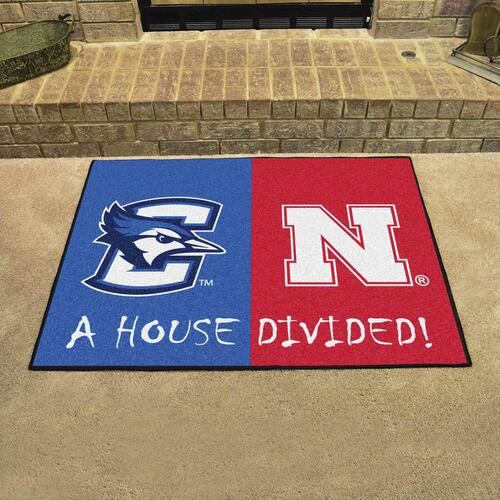 FANMATS NCAA University of Nebraska Cornhuskers Nylon Face Team Carpet Tiles
