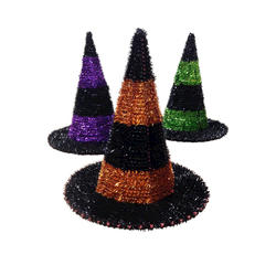 KIDS ASSORTED DELUXE WEB DESIGN WITCH HAT IN 2 COLORS HALLOWEEN