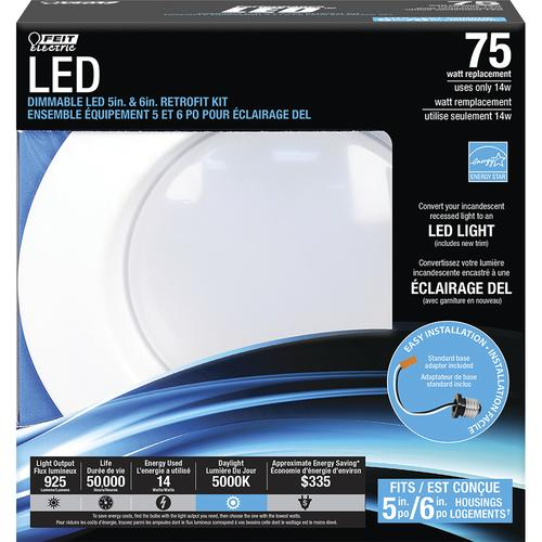 Feit 925 Lumen Daylight 5 Amp 6 Inch Dimmable Led Retrofit