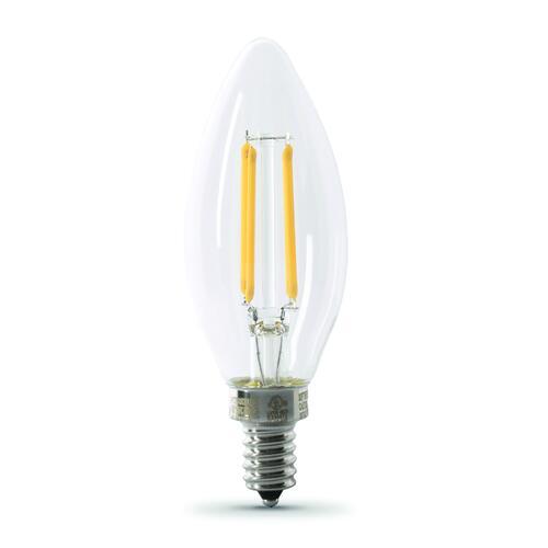 Feit Electric 100w Equivalent B10 E12 Candelabra Base Soft White Led