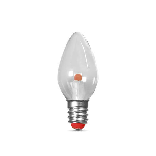 Feit Electric C7 E12 Candelabra Base Red Led Light Bulb 2