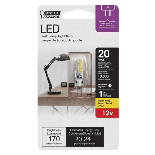 Ampoule Led G4 12v 20w.Feit Electric 20w Equivalent G4 Warm White Led Light Bulb At Menards