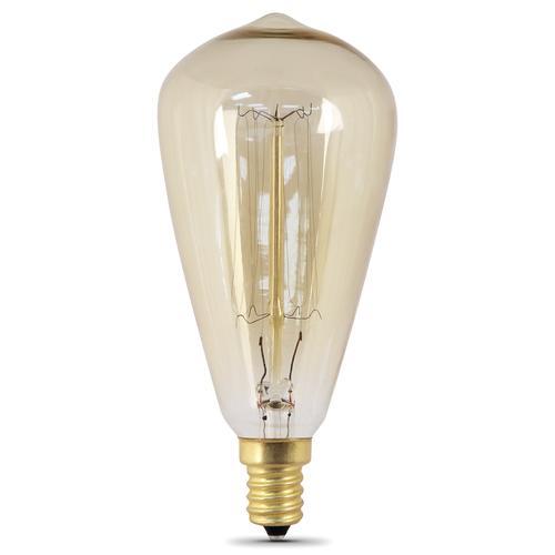 60 Watt Candelabra Light Bulbs: Feit Electric® 60-Watt Vintage General Purpose E12