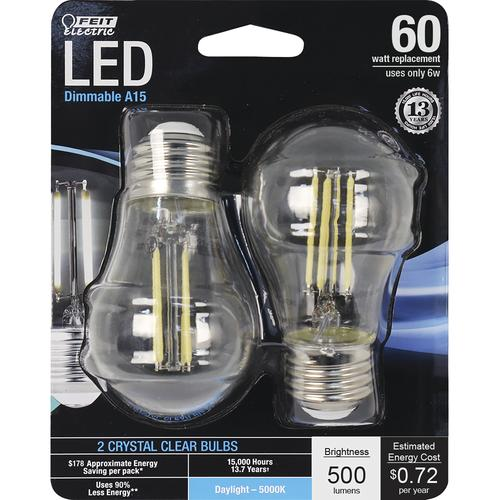 Feit Electric® A15 Dimmable LED Bulb - 2 Pack at Menards®