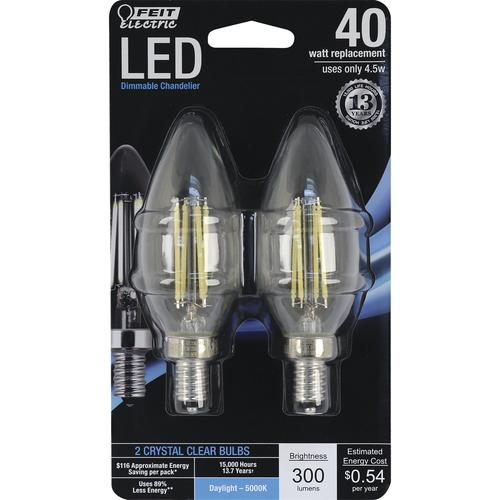 Feit Electric 40w Equivalent Daylight G25 Dimmable Clear: Feit Electric® 40W Equivalent B10 Daylight Dimmable