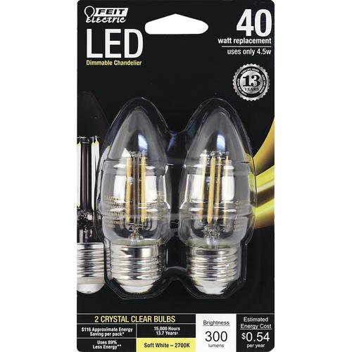 Feit Electric 40w Equivalent Soft White 2700k T10: Feit Electric® 40W Equivalent LED Light Bulbs