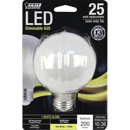 Feit Electric Bpa1540n 827 Led 2 A15 Filament 40w: Feit Electric® 25W Equivalent G25 Frost Soft White