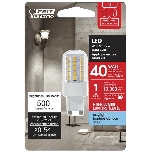 Feit Electric 40w Equivalent G9 Dimmable Led Light Bulb At