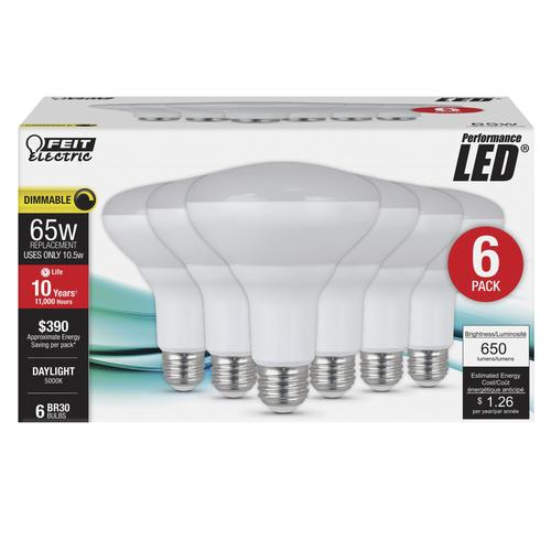Feit Electric 174 65w Br30 Daylight Dimmable Led Light Bulb