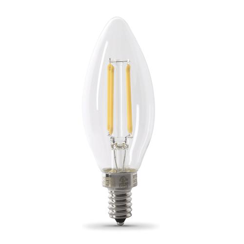 Feit Electric 40w Equivalent Soft White A15 Dimmable: Feit Electric® B10 Candelabra Dimmable LED Light Bulb