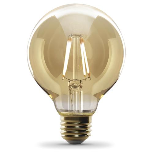 Feit Electric 40w Equivalent Daylight G25 Dimmable Clear: Feit Electric® 40W Equivalent G25 Soft White Amber