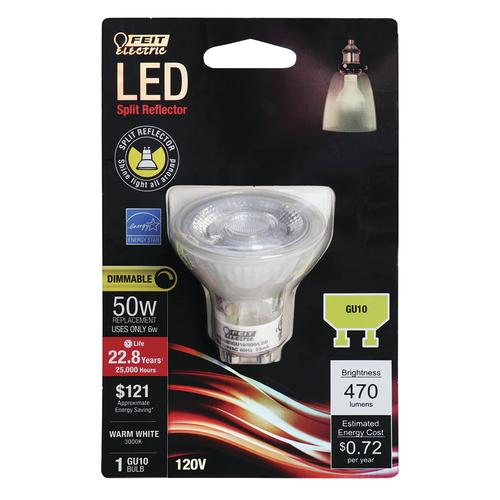 Feit Electric® 50W Equivalent GU10 MR16 Warm White Dimmable