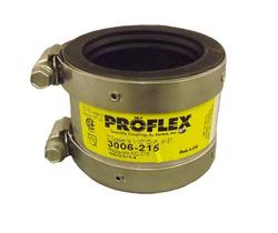 FERNCO P3001-215 Proflex Reducing Coupling for Cast Iron Plastic or Steel Chrome 2