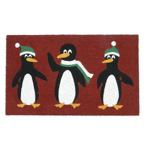 "Penguin Coir Entrance Mat 18"" x 30"""