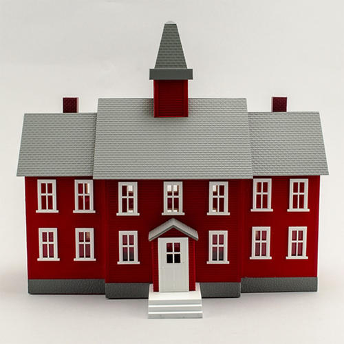 O Scale Model Power Little Red School House