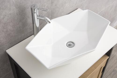 "Tuscany® Huxley 25-1/4""W x 16-3/8""D White Hexagon Vessel Sink at Menards®"