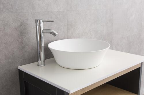 "Tuscany® Milo 16-1/2""W x 16-1/2""D White Round Vessel Sink at Menards®"