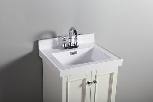 Tuscany 19 X 17 White Square Vanity Top At Menards