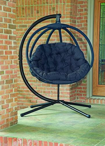 Backyard Creations Black Overland Hanging Chair At Menards