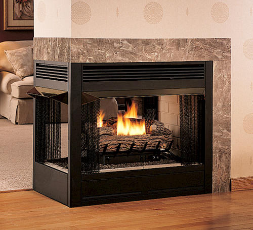 Superior 36 Vent Free Peninsula Dual Fuel Fireplace Insert