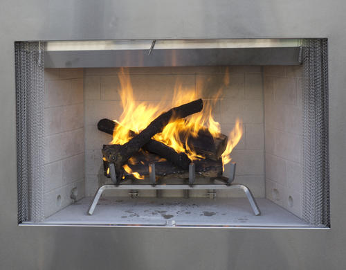 Superior 36 Stainless Steel Outdoor Wood Burning Fireplace Insert
