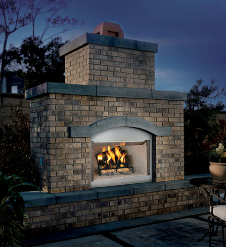 Superior 36 Stainless Steel Outdoor Wood Burning Fireplace