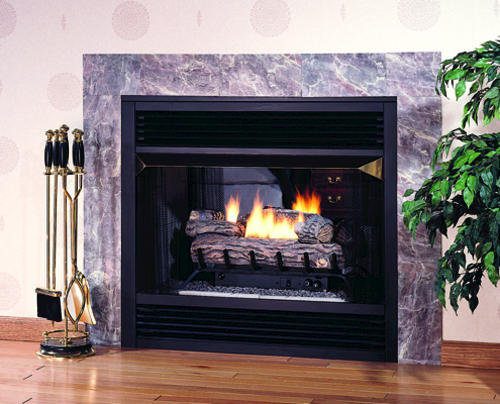 superior 36 vent free see through dual fuel fireplace firebox rh menards com menards gas fireplace logs menards gas fireplace logs