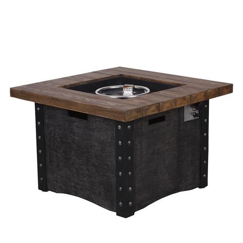 Stupendous Backyard Creations Monroe Propane Gas Fire Pit Table At Download Free Architecture Designs Rallybritishbridgeorg