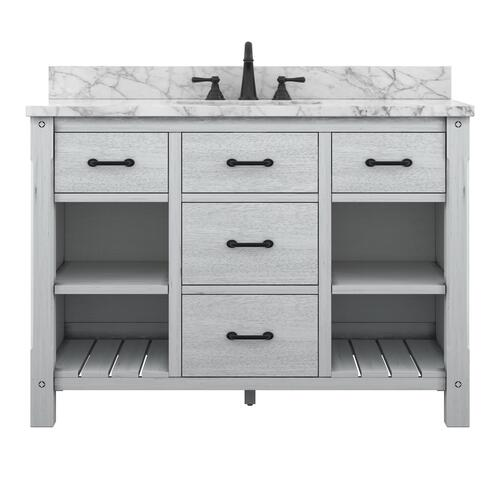 Foremost Roberson 48 W X 21 1 2 D Bathroom Vanity Cabinet At Menards